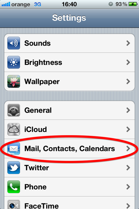 how to set up hotmail on iphone setting up an email account on an iphone web24 20316